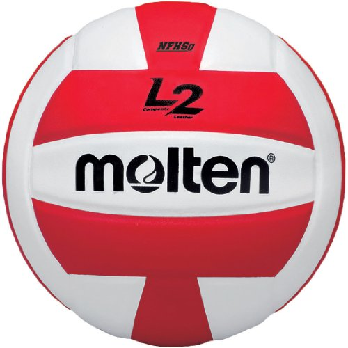 Molten Premium Competition L2Volleyball, NFHS zugelassen, rot/weiß