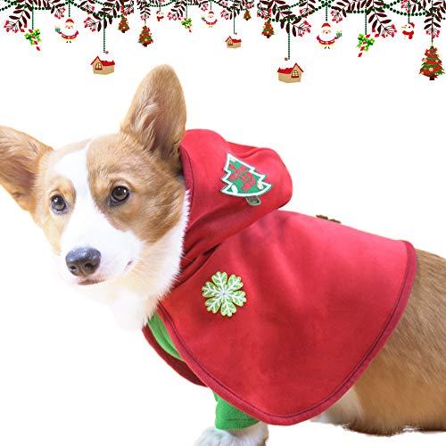 PETTOM Hundekostüm Weihnachten, Verkleidung für Hunde, Weihnachtskostüm Warm Bequem, Hoodies Kleine Hunde, XXL