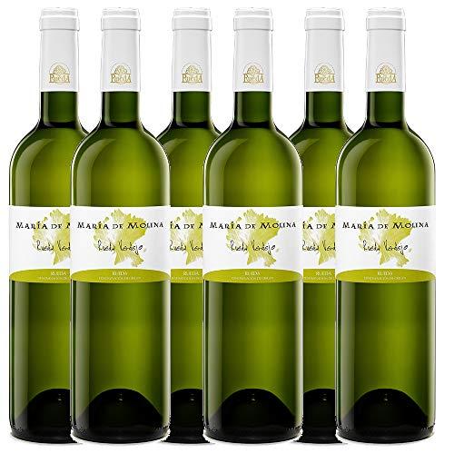 6 botellas vino blanco Verdejo María de Molina. Vino de Rueda.