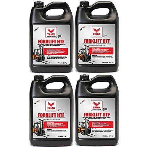 Triax Forklift HTF Multipurpose Hydraulic and Transmission Oil, Hydrostatic Transmission and Hydraulic Oil, Fits 99% of All forklifts, Full Synthetic, 50F Cold Flow (4 Gallon Case)