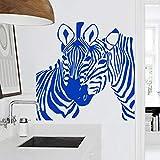 zhuziji Art Design Pas Cher décoration de la Maison PVC zèbre Sticker Mural Vinyle imperméable décoration Animal Maison Autocollant for116x116cm