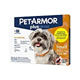 PETARMOR Plus for Dogs Flea and Tick Prevention for Dogs, Long-Lasting & Fast-Acting Topical Dog Flea Treatment, 3 Count, Small