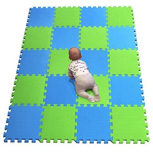 YIMINYUER Alfombra puzles para Bebe Puzzle Infantil Suelo Piezas Goma eva ninos de Suelo Grande Infantiles Azul Pastoverde R07R15G301020
