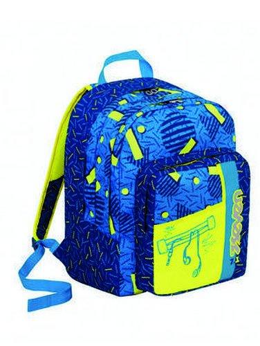 Zaino scuola Outsize SEVEN - SWAG BOY - Blu Giallo - 33 LT - inserti rifrangenti
