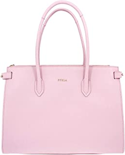 Furla Pin Ladies Medium Pink Camelia Leather Tote 963083