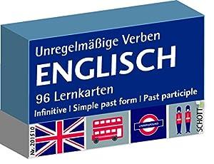 Englisch Unregelmäßige Verben, 96 Lernkarten, Karteikarte 5,6 x 8,6 cm Deutsch - Englisch Karten in Plastik-Box zum Lernen