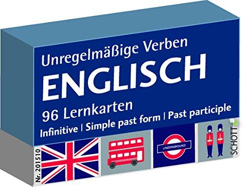 Schott Verlag und Werbung Englisch unregelmäßige Verben, Karteikarten, Vokabeln Deutsch-Englisch