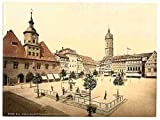 Photo Market place Bismarcks Fountain Jena Thuringia A4