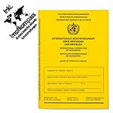 Impfpass Standard, Neue Ausgabe Version 2021 mit Extraseite für aktuelle Schutzimpfungen, inkl. Impfkompass, Impfausweis, Impfbuch, internationaler Impfpass f....