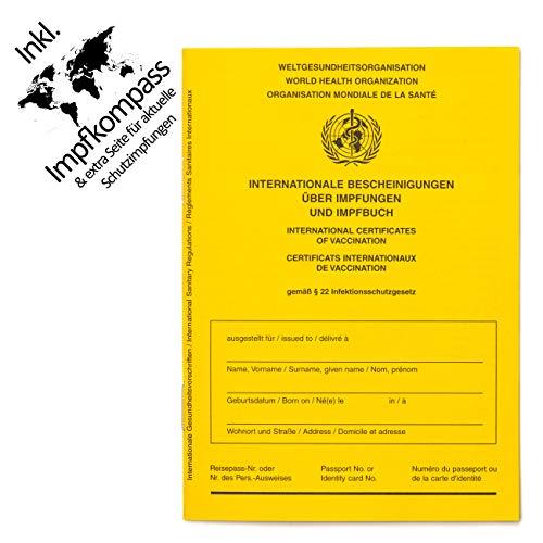 Impfpass Standard, Neue Ausgabe Version 2021 mit Extraseite für aktuelle Schutzimpfungen, inkl. Impfkompass, Impfausweis, Impfbuch, internationaler Impfpass f. Erwachsene und Kinder, u-Heft