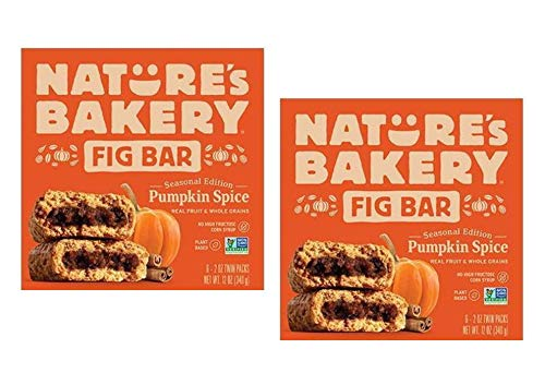 Nature's Bakery Pumpkin Spice Real Fruit, Whole Grain Fig Bar - 12 ct. (24 oz.)