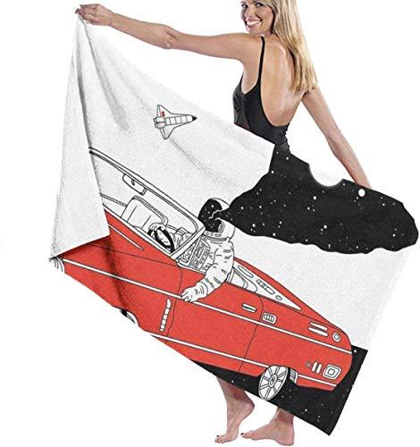 Ches Car Astronaut Damen Spa Dusch- und Wickeltücher Bademantel – Weiß, Siehe Abbildung, Einheitsgröße