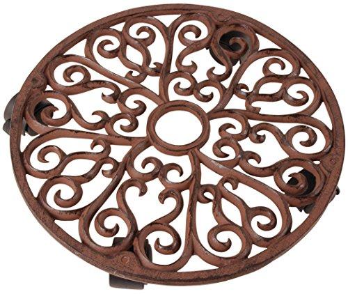 Esschert Design - Portavaso Con Rotelle, In Ghisa, 35 Cm