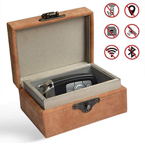 MONOJOY Keyless Go Schutz Autoschlüssel Box Autoschlüsselbox Schlüsselgarage Schutzhülle Schlüsseltasche für Auto und Motorrad NFC, RFID Entry Safe Case für Auto Schlüssel