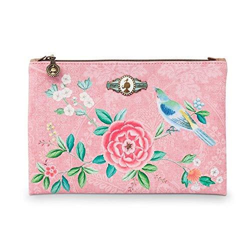 PiP Studio Cosmetic Flat Pouch Medium Floral Pink 24x15,5 cm