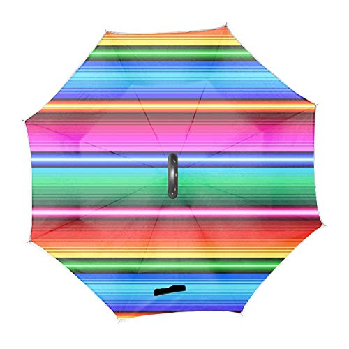 Bunter Laser Mexikanischer Schal Polyester Home Car Upside Down Reverse Regenschirme