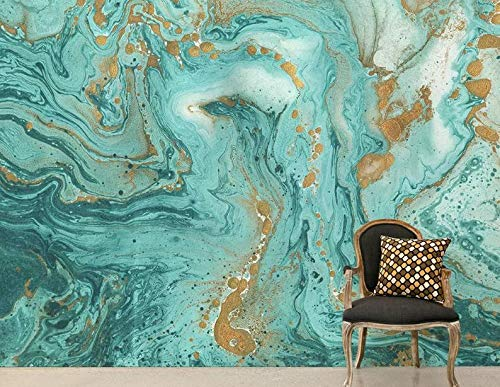 Amazon Com Natural Gold And Turquoise Marble Stone Wallpaper Light Luxury Tv Background Wall Painting Marble Wallpaper Design Mural Paper Living Room Peel And Stick Handmade
