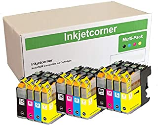 Inkjetcorner Compatible Ink Cartridges Replacement for LC103 BLC103 (3 Black 3 Cyan 3 Magenta 3 Yellow, 12-Pack)