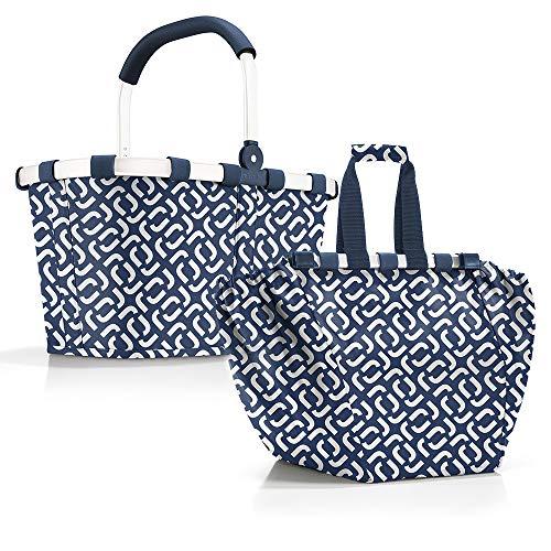 reisenthel Carrybag Einkaufskorb Einkaufstasche Easybag Shoppingtasche Korb Falttasche Einkaufskorb Picknickkorb Shoppingbag Klappkorb (signature navy)