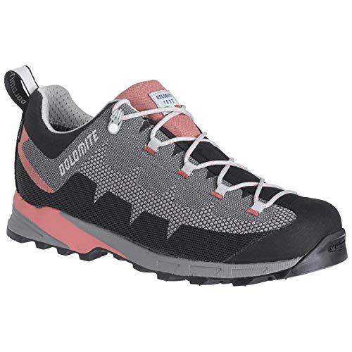 Dolomite Zapato WS Steinbock WT Low GTX 2.0, Zapatillas Deportivas Mujer, Pewter Grey Coral Red, 38 2/3 EU