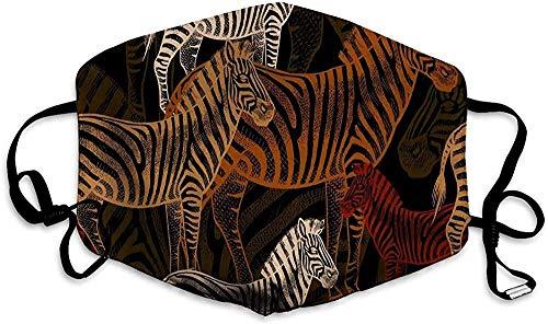 Mannen en vrouwen Mond Gezicht Masker voor Running Cycling naadloos patroon afrikaanse zebra dieren sjabloon om stof behang papier te maken