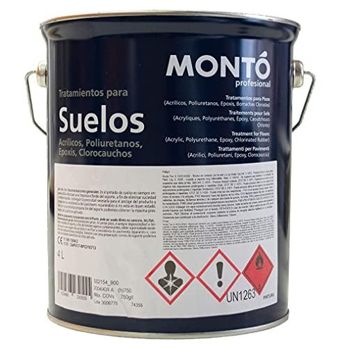 Pintura al Disolvente Epoxi de Dos Componentes para Suelos. Montoepox S/M + Catalizador (5kg (4+1), Blanco 102)