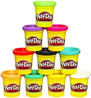 Play-Doh Modeling Compound 10 Pack Case of Colors, Non-Toxic, Assorted Colors, 2 Oz Cans, Ages 2 & Up, (Amazon...