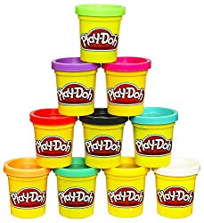 Image: Play-Doh Modeling Compound | 10-Pack Case of Colors | Non-Toxic | Assorted Colors | 2-Ounce Cans | Ages 2 and up (Amazon Exclusive)