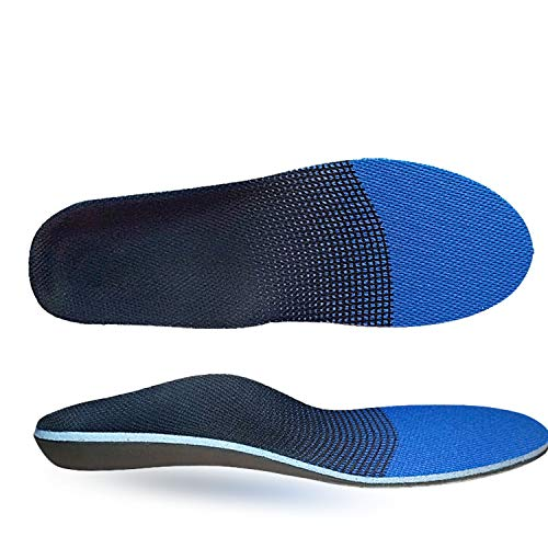 Plantar Fasciitis Inserts, Full Length Arch Support Shoe Insert Orthotic Insoles for Men and Women Supination, Pronation, Oversupination, Flatfoot, Overpronation, Heel Spurs, Foot Pain Relief (M)