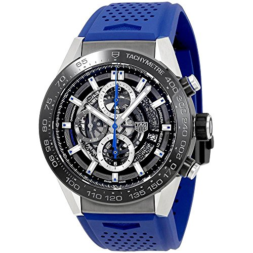 TAG Heuer Carrera Herren-Armbanduhr 45mm Blau Automatik Analog CAR2A1T.FT6052