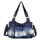 Handbag Hobo Women Handbag Roomy Multiple Pockets Street ladies' Shoulder Bag Fashion PU Tote Satchel Bag for Women (AK19244-3Z Blue)