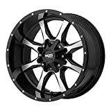 MOTO METAL MO970 GLOSS BLACK W/MACHINED FACE...