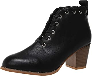 〓COOlCCI〓Ankle Boots for Women Low Heel Wide Width,Cut Out Slip On V Cut Low Heel Short Boots Pointed Toe Western Boot