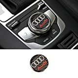 L&U La Fibra de Carbono botón Centro de Control Console Multimedia Knob Vestiduras Cubierta Adhesivos de emblemas Pegatinas para Audi A3 2014-2019