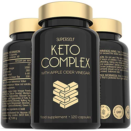 Keto Diet Pills - Enriched with Apple Cider Vinegar 1000mg, MCT Oil, Green Tea Extract & Vitamin B12-120 Capsules - Advanced Keto Supplement for Men & Women - Made in The UK