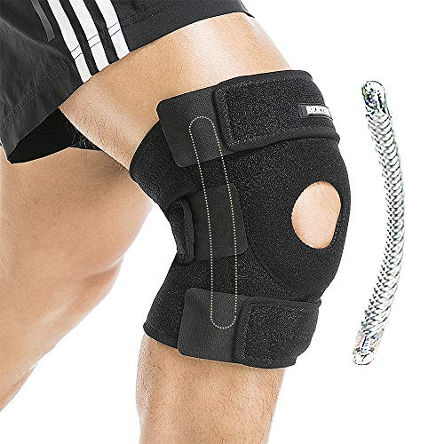BERTER Knee Brace Open Patella Stabilizer Neoprene Knee Support for Men Women Running Basketball Meniscus Tear Arthritis Joint Pain Relief ACL