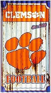 Team Sports America Clemson Tigers Corrugated Metal Wall Art