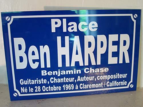 plaque de rue Ben Harper création Originale édition limitée Cadeau Fan collectionneur