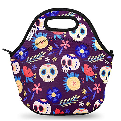 Adoric Lunch Bag for Women and Kids Waterproof Neoprene Insulated Lunch Bag Leakproof Heat Insulation Lunch Box Bag Reusable Lunch Tote for School, Work, Picnic, Travel