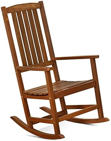 Best FURINNO Tioman Hardwood Patio Furniture Rocking Chair in Teak Oil, Natural