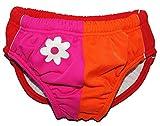 alles-meine.de GmbH Badewindelhose Blume - UV Schutz - Badehose mit Windel - Größe 1 - 2 Jahre - Gr. 86 / 92 - für Kinder - Schwimmwindeln - Mädchen Jungen - Badewindel Schwimmwi..