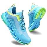 Zapatillas Deportivas de Mujer Zapatos Mujer Calzado Deportivo de Exterior de Mujer para Correr Zapatillas Casual Sneakers Azul Verde-37