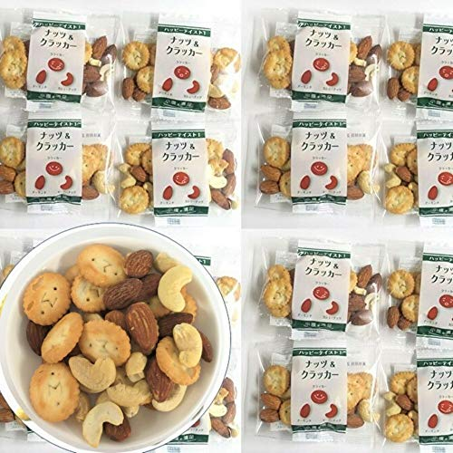 [Amazon限定ブランド] 五感満腹 ミックスナッツ ナッツ&クラッカー(3種MIX) 25gx30袋 (アーモンド カシューナッツ クラッカー)