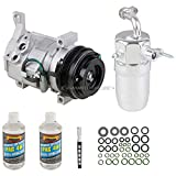 AC Compressor & A/C Kit For Chevy Tahoe Suburban GMC Yukon Cadillac Escalade 2001 2002 w/Rear AC - BuyAutoParts 60-89047RK New
