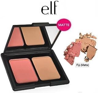 e.l.f. Cosmetics Contouring Blush & Bronzing Powder, Two Matte Shades Perfectly Contour Skin, Fiji