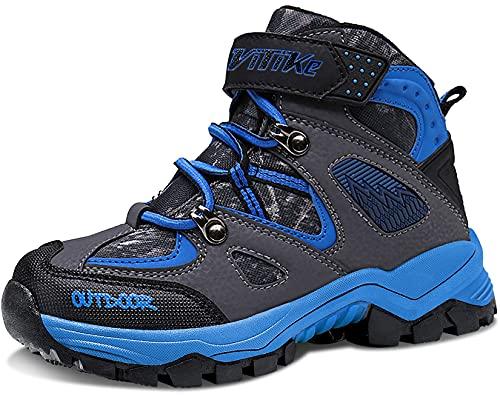Botas de Senderismo Zapatos de Algodón Botas para la Nieve Botas de Invierno para Unisex Niños, 33 EU, 1 Azul