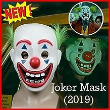 Joker Mask Arthur Fleck Masks Cosplay DC Movie Clown Halloween Mask for Kids Party Costume Props White