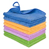 8PCS Microfiber Cleaning Rags for House - Soft Micro Fiber Towels for Car Drying,Dust Cloths for Detailing,Micro Fiber Cleaning Towels Rags for Kitchen, Window, Stainless Steel, Furniture (12''x12'')