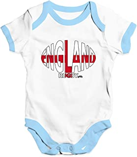 TWISTED ENVY Baby Boy Clothes England Rugby Ball Flag