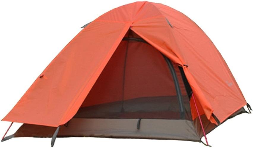 Jiu Bu Tente De Camping 2 Personnes Double Pont étanche UV Camping en Plein Air Randonnée Voyage Bleu Rouge Vert